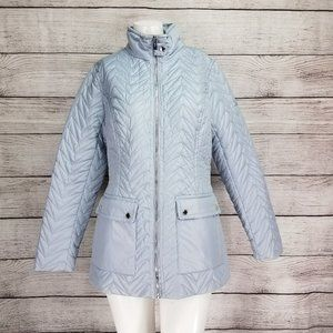 NEW Via Spiga XS Cargo Quilted Jacket in Moonstone